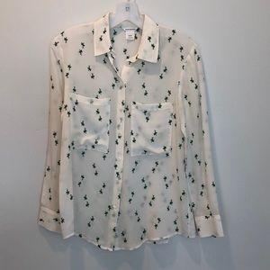 Club Monaco silk patterned blouse